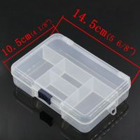 Rectangle Plastic Storage Box / Container  14.5x10.5cm (5 compartments)